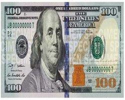 New redesigned 100 dollar bill
