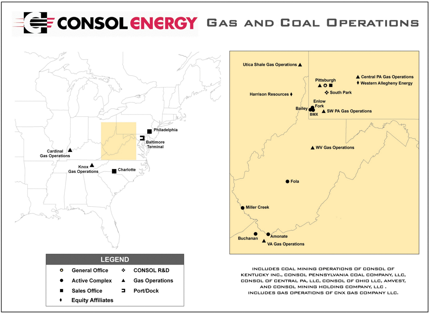 CONSOL Energy - Gas and Coal operations