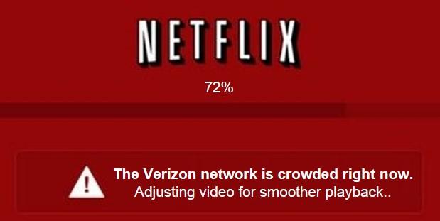 Netflix versus Verizon feud