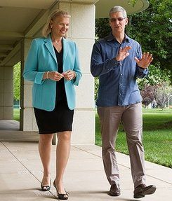 Tim Cook and Ginni Rometty