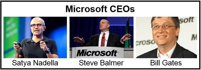 Microsofts three CEOs