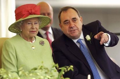 The Queen and Alex Salmond