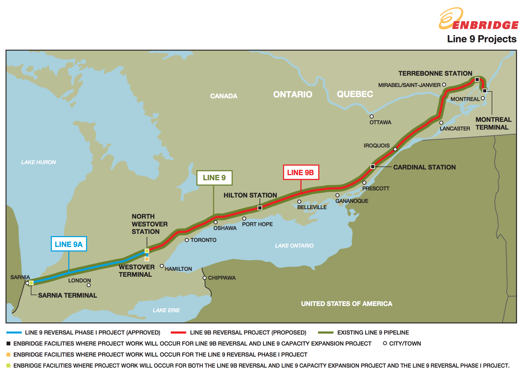 Enbridge Insists Its Line 9 Pipeline Meets All Safety