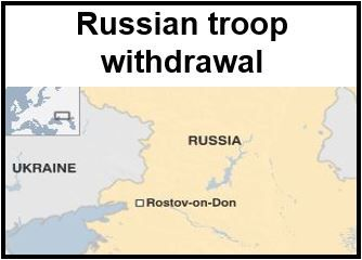 Russian troops withdraw from Rostov