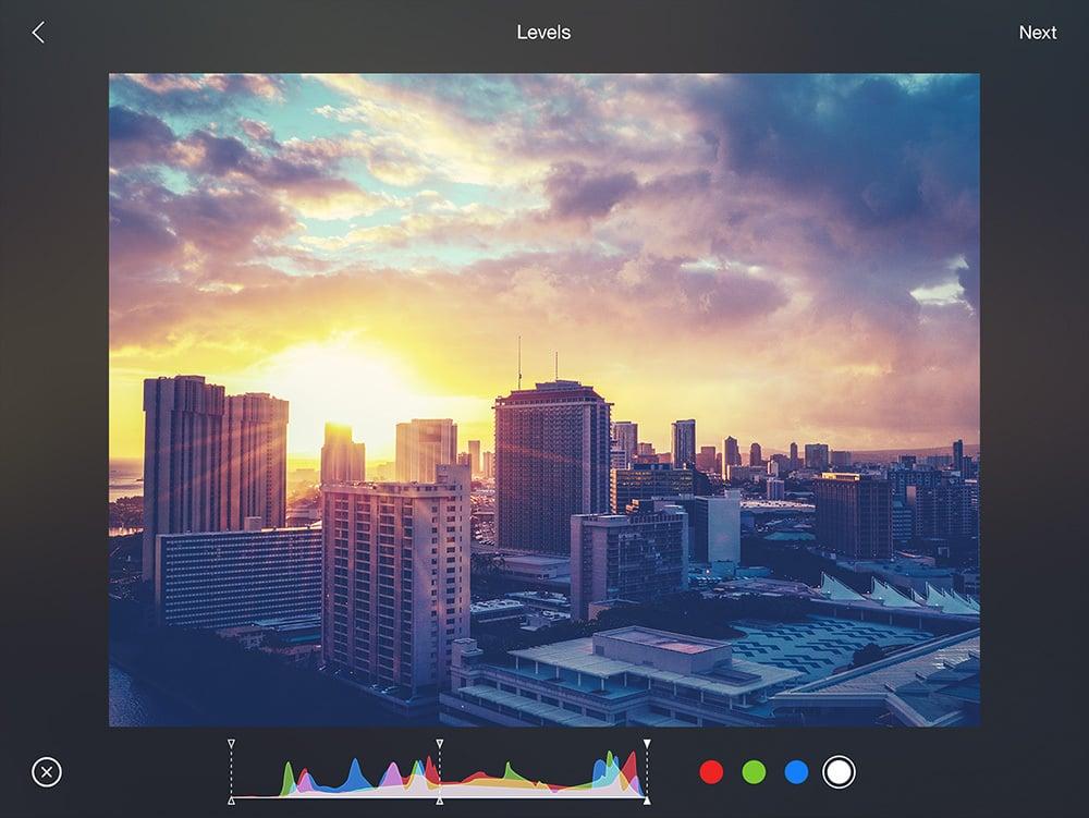 Flickr iPad filters