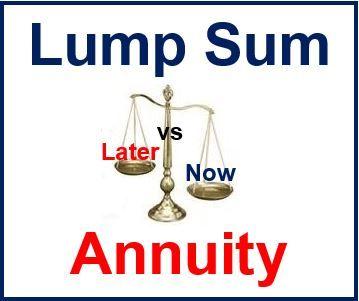 Annuity versus lump sum