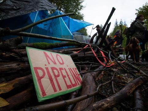 Kinder Morgan Pipeline protesters