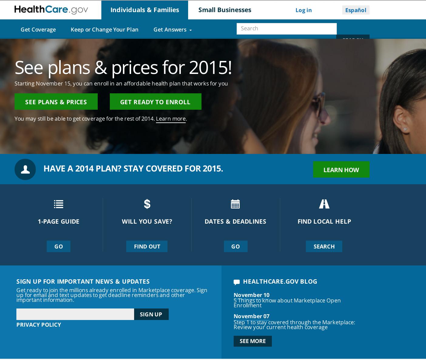 Healthcare .gov plans