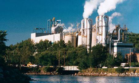 Tembec Temiscaming industrial complex
