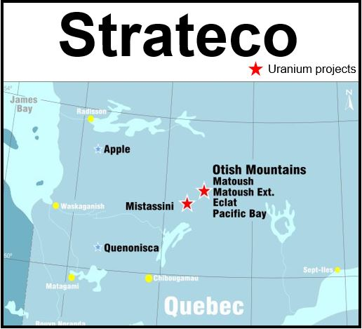 Strateco uranium projects