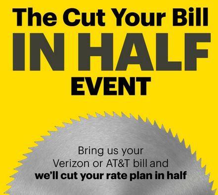 Cut your bill in half
