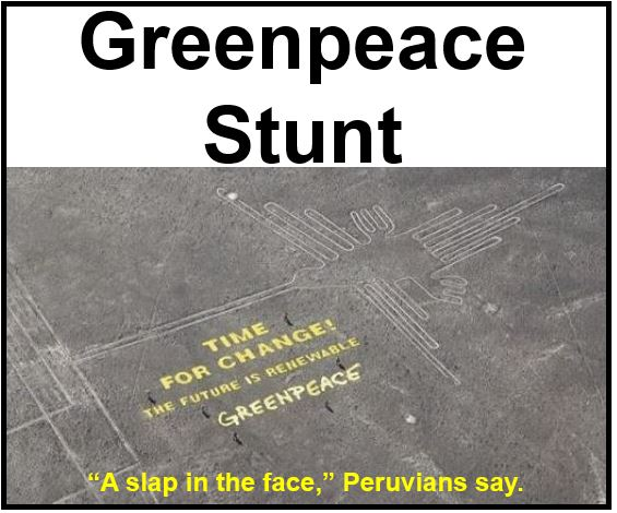 Greenpeace Stunt