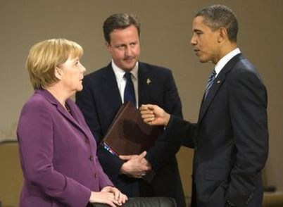 Obama Merkel Cameron