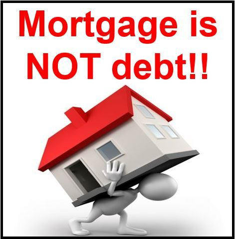 Retirement mortgage not debt