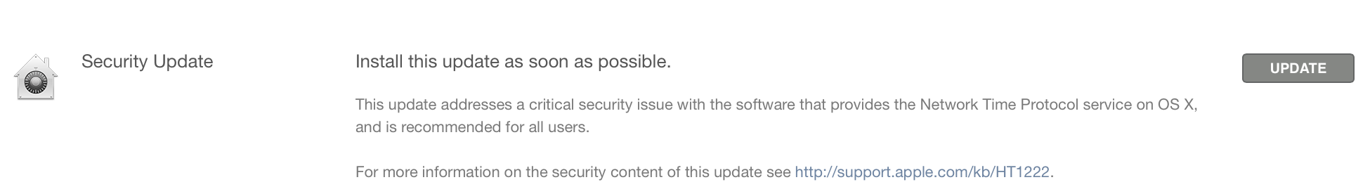 Apple OS X Security update