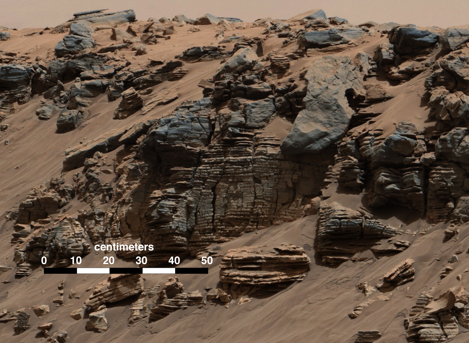 mars curiosity rover image of rocks