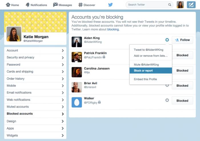 twitter block user