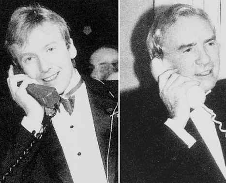 First mobile call Jan 1 1985