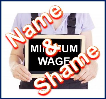 Name and shame minimum wage