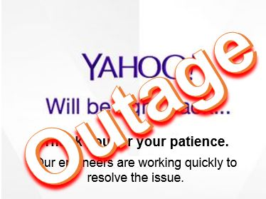 Outage at Yahoo search