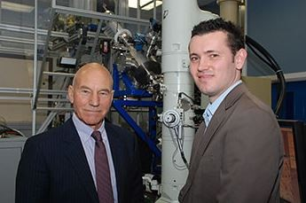 Sir Patrick Stewart and Dr Jonathan Hinks