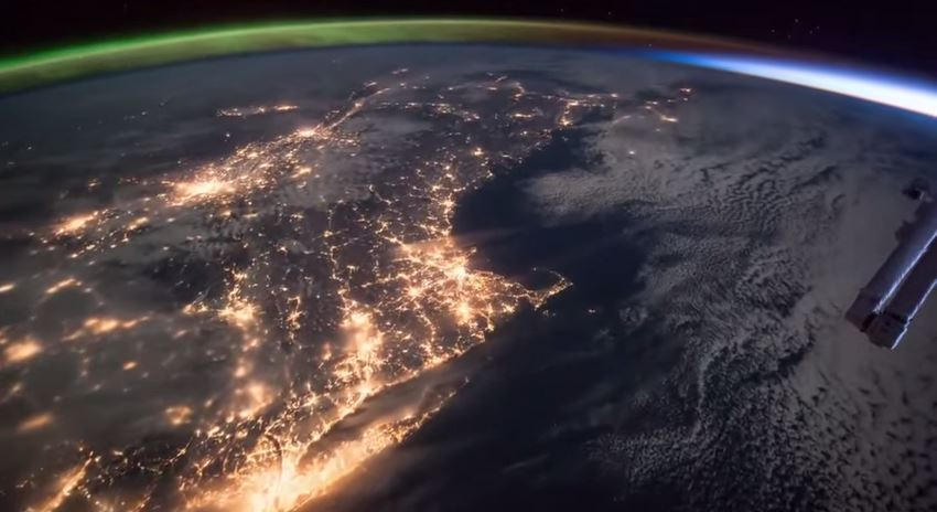 Aurora from ISS
