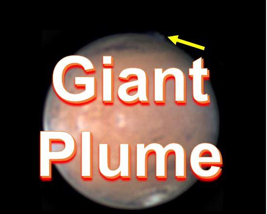 Giant plume Mars