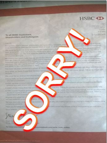 HSBC apology