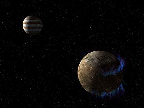 Ganymede orbiting Jupiter