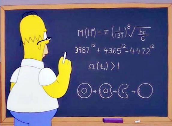 Homer Simpson Higgs Boson