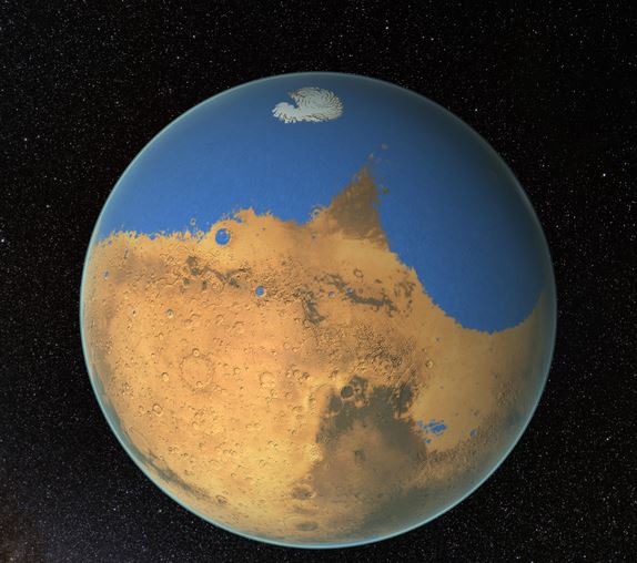 Mars ancient ocean