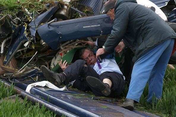Nigel Farage plane crash 2010