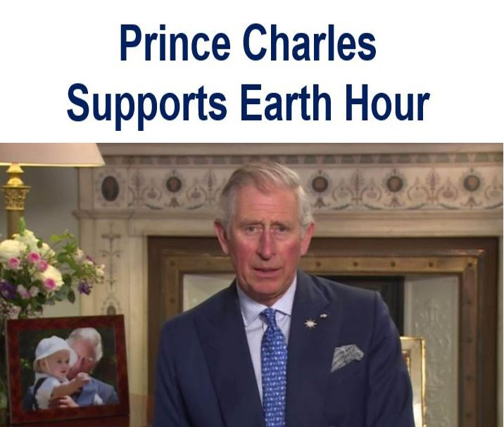 Prince Charles support earth hour