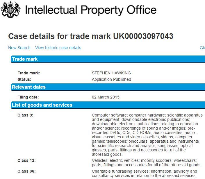 Stephen Hawking Intellectual Property Office