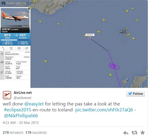 easyjet flightpath eclipse