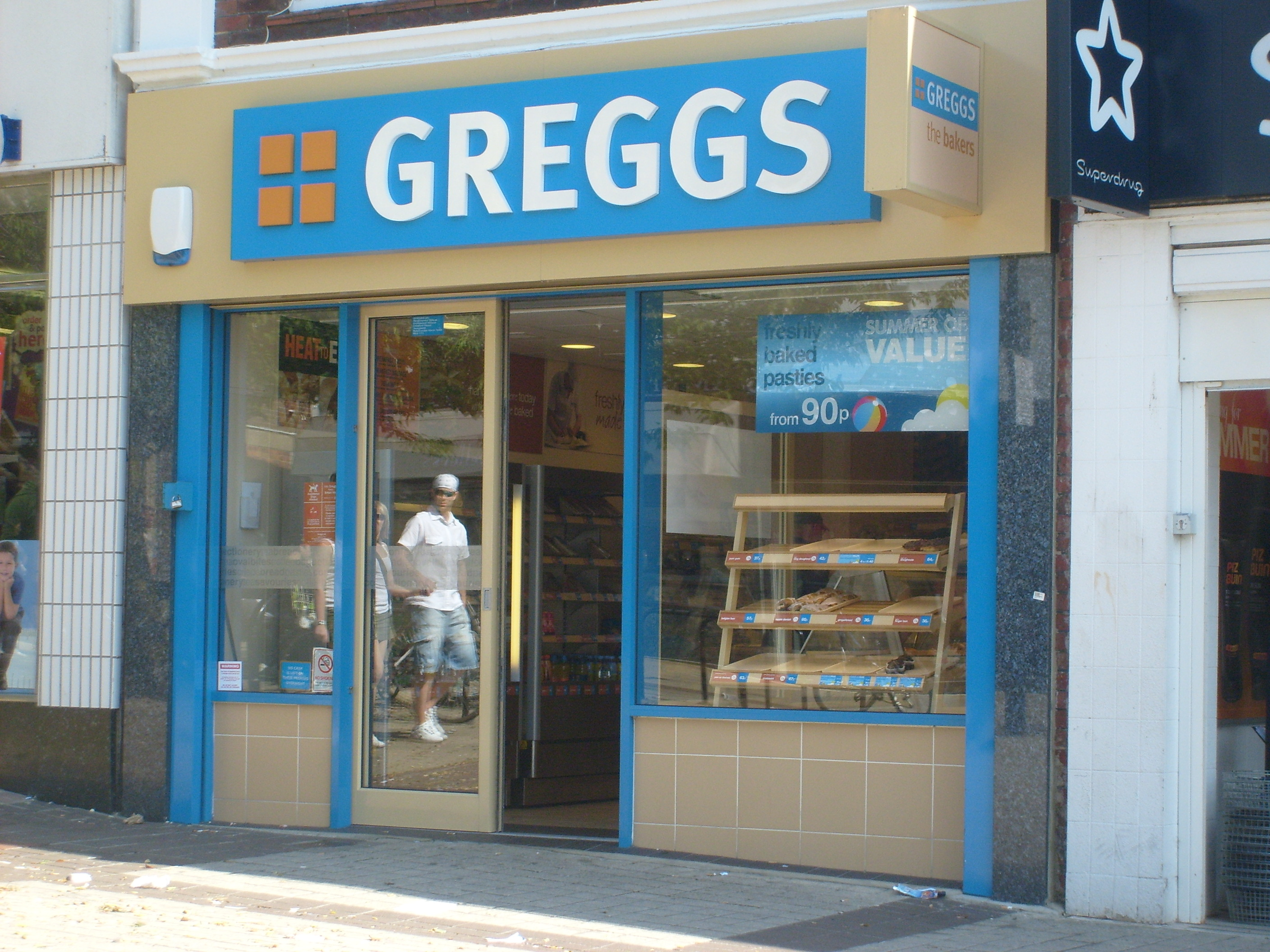 A Greggs shop in Waterlooville