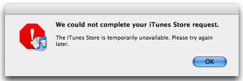 itunes-store-down-message
