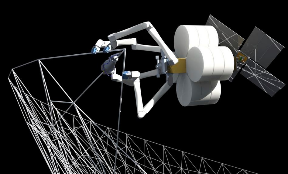 Robot spider building structures
