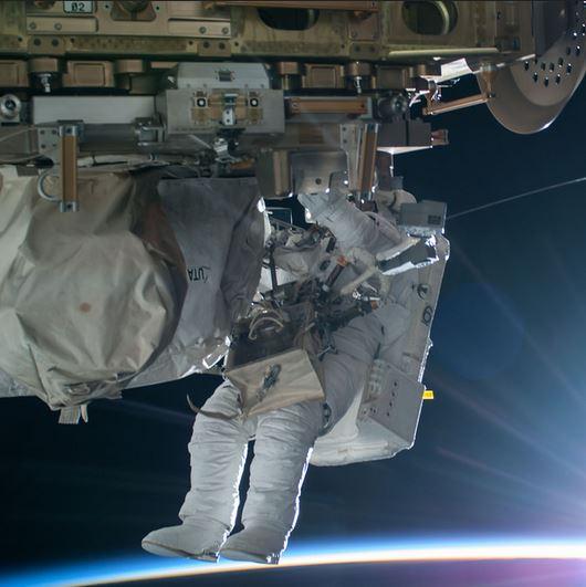 Terry Virts spacewalk
