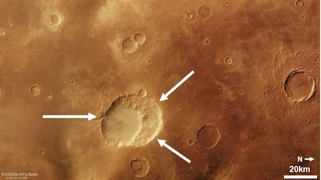 Ancient supervolcano on Mars