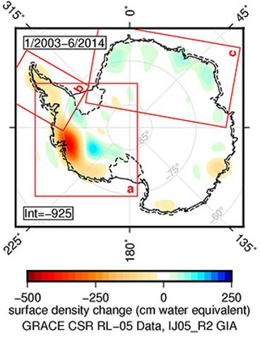 Antarctica ice loss
