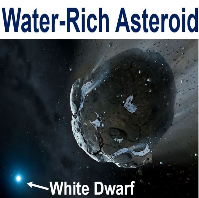 Asteroid with water