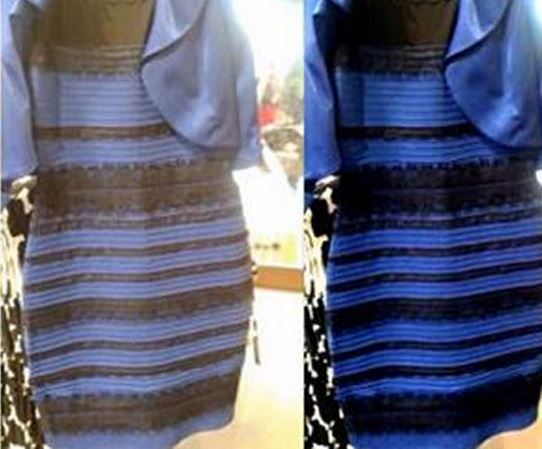 Dress Colour Confusion Down To Bluish And Yellowish