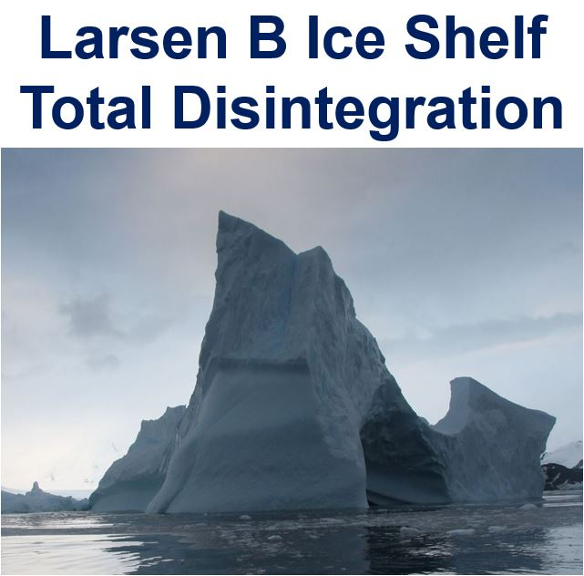 Ice shelf disintegration looming