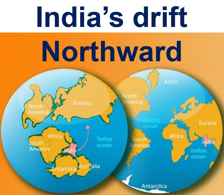India drift northward