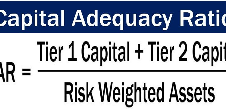 Formula for capital adequacy ratio or CAR