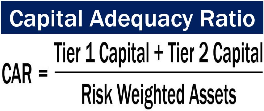 capital adequacy The capital adequacy ratio (car) is an international standard that measures a  bank's  risk weighted assets are calculated by looking at the bank's loans and .