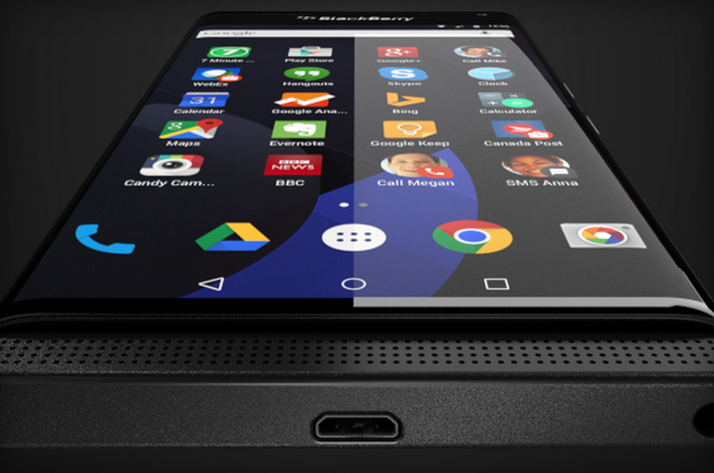 BlackBerry running Android OS