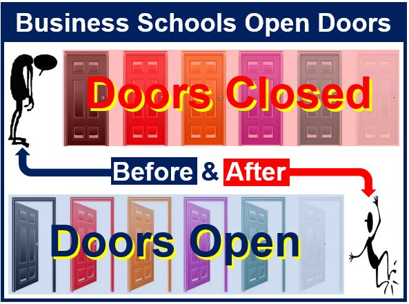 Business school - open doors