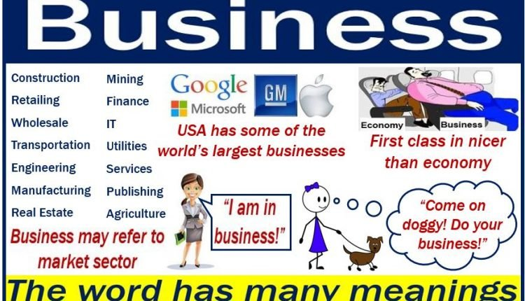 Business - the word has many meanings